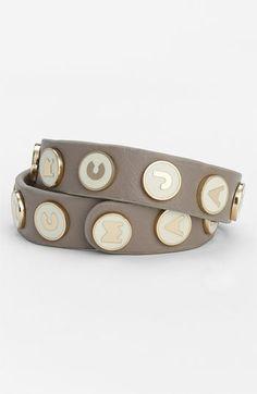 MARC BY MARC JACOBS 'Classic Marc' Leather Wrap Bracelet