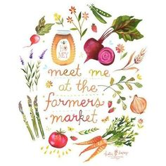 meet me at the farmers market! Shop in DuPage ❤ liked on Polyvore featuring quotes, text, phrase and saying