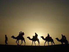 En ruta por el desierto.