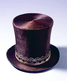 cfa7d4a163d Museum of the American West 1840 s top hat Antique Clothing