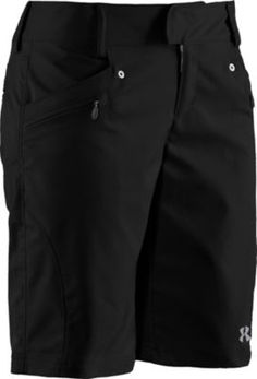 """As part of UA's Offshore Armour™ series, the Women's 10"""" Sedna Shorts offer plenty of benefits to the outdoor enthusiast, including sun protection and moisture-wicking comfort. Slide front pockets and zippered side pockets. 100% polyester.  Inseam:  10"""".  Even sizes:  4-16.  Color:  Black."""