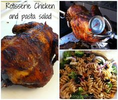 Rotisserie Chicken and pasta salad - lots of great grilling recipes found on Pinterest!