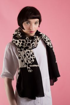 Dalmatians Wool Scarf | Karen Mabon