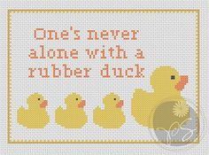 Hitchhiker's Guide to the Galaxy quote - Rubber Duck (Printable PDF Pattern). $3.50, via Etsy.