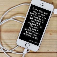 Great reminder! Prayer & Scripture Study are our the ways to get spiritual recharging!