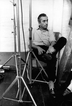 Michelangelo Antonioni on the set of Blow-Up, photographed by Eve Arnold, 1966 Pier Paolo Pasolini, Michelangelo Antonioni, Migrant Worker, Story Writer, Film Director, Screenwriting, On Set, Storytelling