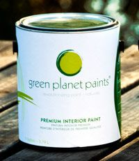 Green Planet Paints are zero-VOC paints that have moved away from petroleum to a truly sustainable product made from plant resins and mineral pigments.