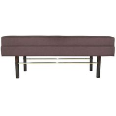 Mid-century Bench by Milo Baughman | From a unique collection of antique and modern benches at http://www.1stdibs.com/furniture/seating/benches/