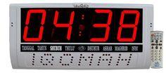 Jadwal Sholat Digital BEST SELLER. Sudah digunakan ribuan Masjid/Musholla di seluruh Indonesia  BERGARANSI  1. JEDA IQOMAH dan Jadwal Waktu Sholat Otomatis. 2. Kalender digital 3. Jadwal waktu sholat berlaku 100 tahun 4. Adzan / Beep tiap awal waktu sholat fardhu 5. Tersedia 255 jadwal waktu sholat untuk kota-kota di Indonesia dan Asia Tenggara 6. Listrik AC 220 volt/5 watt 7. Jika listrik mati, setting alat tidak berubah 8. Garansi 1 tahun  SERVICE CENTER DI JAKARTA