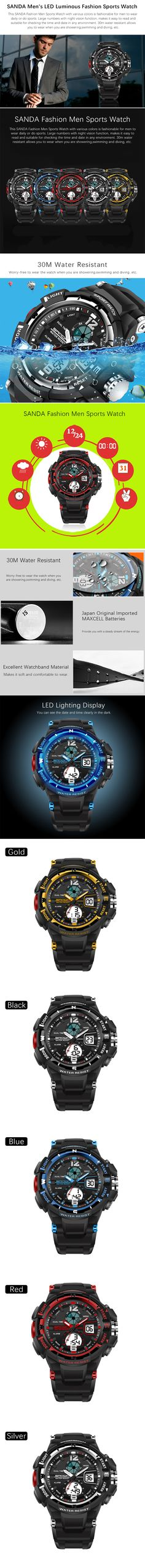 A fashion sports watch for men to wear daily or while doing sports.