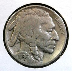1936 Buffalo Nickel - Indian Head -  Coin - Coins & Money - Coinage - Christmas Gift - Vintage by EarthlyCrystals33 on Etsy