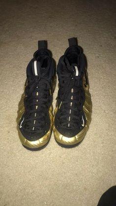 quality design 12858 1b81a Nike Air Foamposite Pro Metallic Gold Black Size 10  fashion  clothing   shoes
