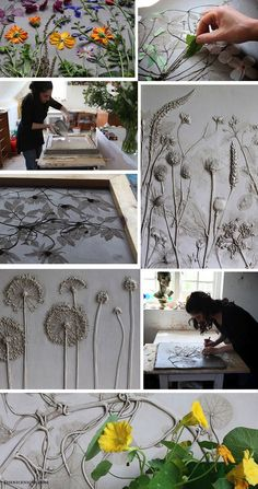 Rachel Dein, Tactile Studio this is soo cool. making imprints in clay and plaster casts Rachel Dein, Tactile Studio — The Nice Niche Art Concret, Concrete Art, Concrete Projects, Clay Projects, Clay Crafts, Diy And Crafts, Arts And Crafts, Concrete Casting, Concrete Crafts