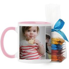 Gallery of Three Mug, Pink, with Ghirardelli Minis, 11 oz