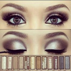 Urban Decay Naked Palette –– Check out other looks with this palette: mkup.ca #ProTip #makeup #cosmetics