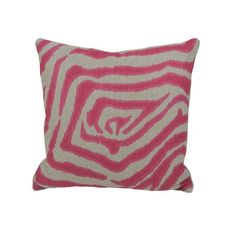 I pinned this Zebra I Pillow in Pink from the Signature Pillows event at Joss and Main!