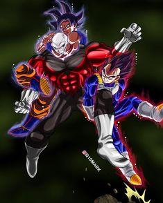 "4,830 Me gusta, 60 comentarios - Q10Mark Dragonball Fanart (@q10mark) en Instagram: ""Goku and Vegeta vs Jiren done! Please turn on post notifications! - Tag your friends!!…"""