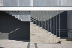 staircase // BAHCS Architects // Szent-Györgyi Albert Agora in Szeged // photo © Zsolt Frikker