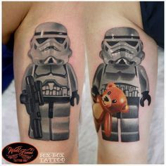 Cute stormtroopers tattoo by Denis Torikashvili