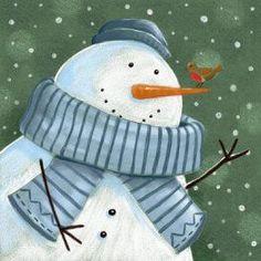 Cute snowman picture. :-)