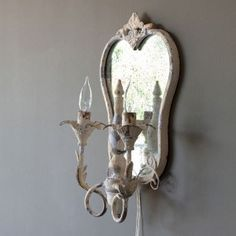 New Orleans Parlour Double Sconce Pair French Farmhouse Decor, Antique Farmhouse, Farmhouse Style Decorating, Cottage Shutters, Antique White Paints, Rustic Floor Lamps, Painted Fox Home, Sconce Lighting, Wall Lighting