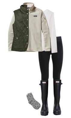 """OOTD 1/12/16 Utah"" by blueblondie89 ❤ liked on Polyvore featuring NIKE, Hunter and Patagonia"