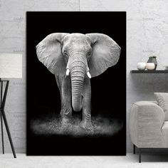 """Style your home with this amazing """"Africa Wildlife"""" black and white animal spray painting today and we will ship this painting for free. This is the perfect centerpiece for your home."""