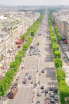 The best view in Paris - the Arc de Triomphe