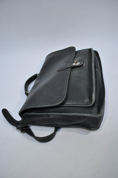 vintage leather bag satchel briefcase tote COACH by andyhaul