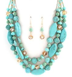 Savannah Necklace in Turquoise OK,,I HAVE ALL THE STONES, JUST HAVE TO PUT IT TOGETHER