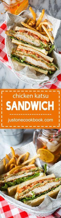 Chicken Katsu Sandwich (チキンカツサンド) | Easy Japanese Recipes at http://JustOneCookbook.com