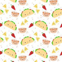 Taco Pictures Cartoon Cute Wallpaper Tacos Pattern Recherche Google Taco Wallpaper Kawaii