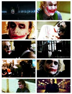 "The Joker (Heath Ledger) in ""The Dark Knight"""