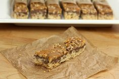 Rice Krispie Treats with Chocolate, Toasted Walnuts and Salted Caramel