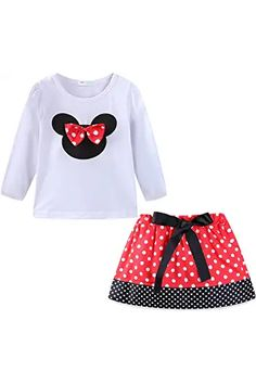 Amazon.com : cute spring outfits Cute Spring Outfits, Holiday Outfits, Cute Outfits, Red Skirts, Pink Shorts, Little Girls, Kids Girls, Disney Style, My Baby Girl