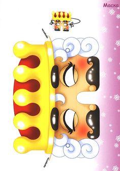 13 декабря 2011 г. Christmas Paper, Christmas Crafts For Kids, Kids Crafts, Paper Mask, Digital Stamps, Mask For Kids, Paper Cutting, Paper Dolls, Pop Up