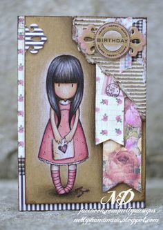 Risultati immagini per ite rabbit gorjuss cards Kids Cards, Baby Cards, Card Making Inspiration, Card Sketches, Copics, Cool Cards, Creative Cards, Homemade Cards, Paper Dolls