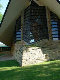 Unitarian Meeting House. Madison Wisconsin. Frank Lloyd Wright. 1951