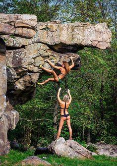 Have you tried bouldering ? #climbing, #rockclimbing, #bouldering…