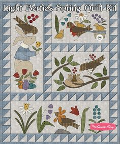 Light Bertie's Spring Quilt Kit ReservationMaywood Studio | Fat Quarter Shop