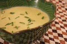 Delicious potato soup with zucchini