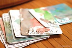 Repurpose your kids' artwork to make thank you cards!!