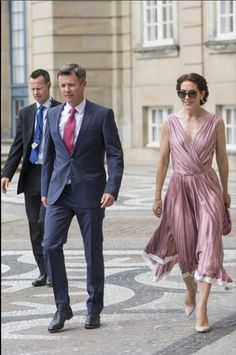 July 2015 Crown Prince Frederik and Crown Princess Mary Attend Gala Concert and Dinner