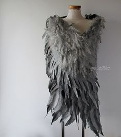 felted scarf - grey wings | Flickr - Photo Sharing!