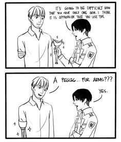Attack On Titan  funny comic | comic levi Sorry again snk shingeki no kyojin AOT attack on titan ...