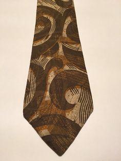NEW Chaps By Ralph Lauren Brown Paisley 100% Silk Classic Mens Neck Tie #LaurenRalphLauren #NeckTie