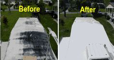 For roof repair on trailer if there is a leak. EPDM Coatings Liquid Roof Liquid Rubber - Residential and Commercial Roofing for roof leaks repair Camper Life, Rv Life, Diy Camper, Camper Van, Liquid Roof, Roof Leak Repair, Camper Repair, Commercial Roofing, Travel Trailer Remodel
