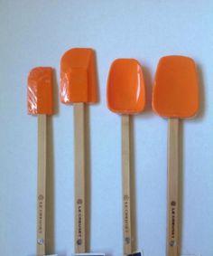 Le Creuset Silicone Spatula Spoon 4 Pieces Set Orange