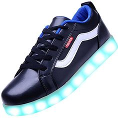 finest selection b0a71 8c4a7 USB Charging LED Lighting Shoes Fashion Flashing Sneaker Black 37 -- Click  image to review