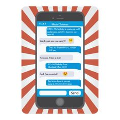 Printable cell phone text message birthday invitation iphone smartphone emoji teen texting birthday invitation stopboris Choice Image
